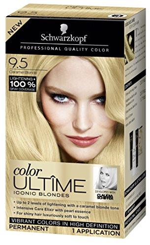 Schwarzkopf Color Ultime Hair Color Cream, 9.5 Caramel Blonde (Packaging May Vary)