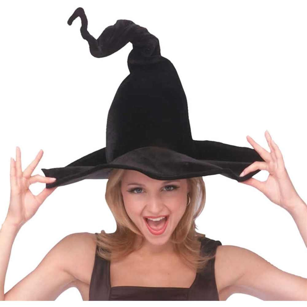 Amazon.com: Rubie's Costume Co Wired Witchhat-Blk Velour Costume ...