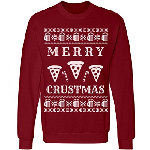 Merry Crustmas Pizza & Beer ck Sweatshirt