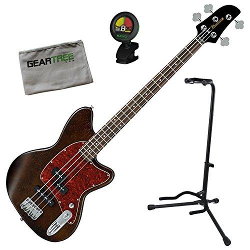 Ibanez TMB100WNF Talman Bass Standard Bass - Walnut Flat w/ Stand, Tuner, and Ge