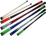 Flames N Games GLITZ Pro Devil Stick Set (Glitter Deco) Wooden Silicone HandSticks! Top Quality Devilstick Set for Beginners & Pro's!! (Black/UV Orange)