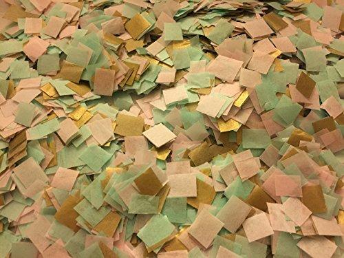 Gold Pink Mint Biodegradable Confetti, Confetti to Throw, Tossing Confetti, Flower Girl Confetti, Bio Degradable Environmental Eco Friendly, Party Decoration, Wedding Decor, Ceremony Confetti Eco Friendly Confetti