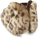 quilted ear warmers - 180s Women's Vail Earmuffs, Gold Leopard, One Size