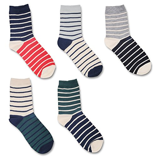 [Men Fashion Colorful Dress Socks Fun Sock Multicoloured One Size 5 pairs] (Jackie Nurse Shoes)