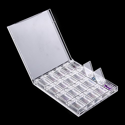 OneDor Clear Transparent Bead Accessory Storage Organizer with 20 Small Plastic Boxes (Plastic Accessories)