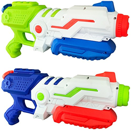 Liberty Imports Max Burst Super Water Gun High Capacity Power Soaker Blaster   Kids Toy Swimming Pool Beach Sand Water Fighting  2 Pack