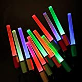EverBrite LED Glow Sticks Bulk 12-pack Party Favors Flashing Lights 8-Modes Safety Light Sticks Batteries Included