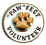 3D Gold Paw ''Paw''fect Volunteer Appreciation Award Lapel Pins, 12 Pins