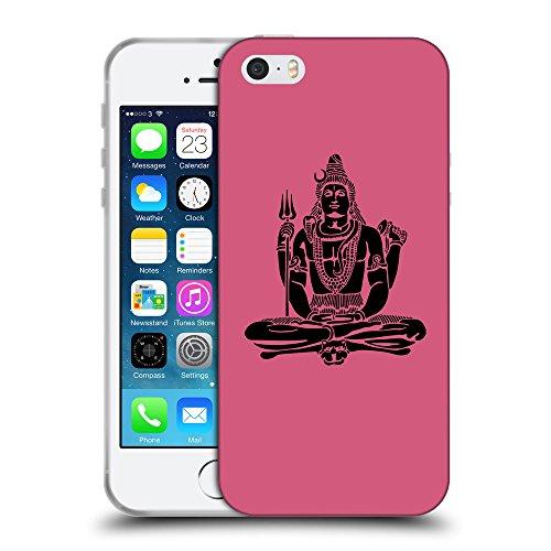 GoGoMobile Coque de Protection TPU Silicone Case pour // Q08100614 Hindou 1 Rougir // Apple iPhone 5 5S 5G SE