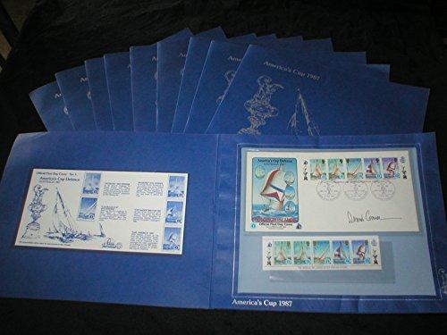 1987 America's Cup Solomon Island Race Commemorative 10 Cover Stamp (Commemorative Stamp Covers)