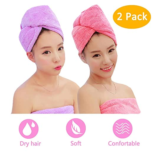 ADOGO Hair Towel Wrap Child Set with 2 Pieces