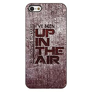 xiao Up in the Air Pattern PC Hard Case with 3 Packed HD Screen Protectors for iPhone 5/5S