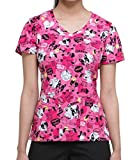 Dickies EDS Signature Women's V-Neck Dog Print Scrub Top Small Print