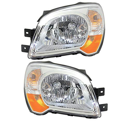 Partomotive For 08-10 Sportage Front Headlight Headlamp Halogen Head Light Lamp Set Pair