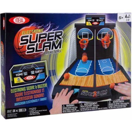 (Ideal Electronic Super Slam Basketball Tabletop Game / Brings exciting arcade action straight to your home Designed for 1-2 players)