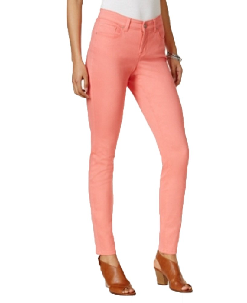 Style & Co. Curvy-Fit Skinny Jeans (Coral Cove, 16)
