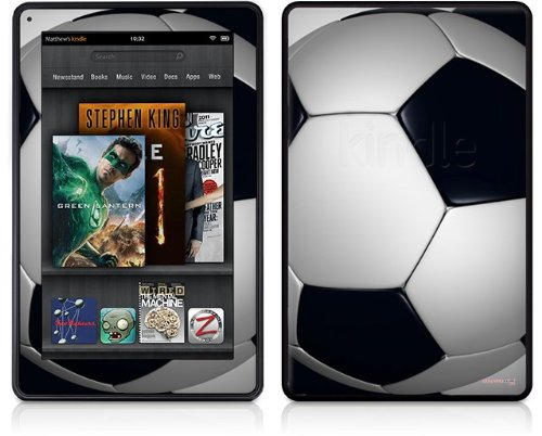 Amazon Kindle Fire (Original) Decal Style Skin - Soccer Ball by WraptorSkinz