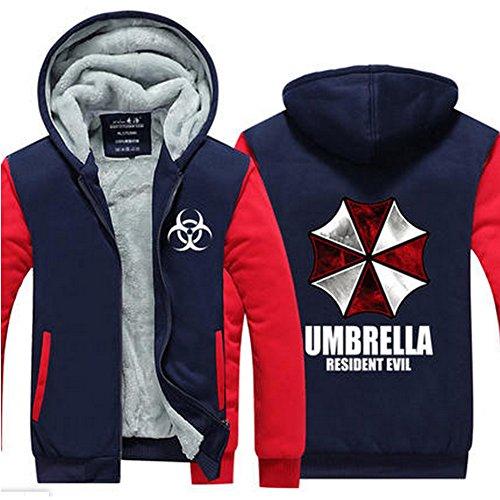 [HOLRAN Leisure Unisex Jacket Sweatershirt hoodie thicken coat Size M] (Resident Evil Fancy Dress Costume)