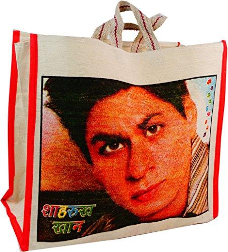 Guru-Shop Bollywood Tasche, Herren/Damen, Mehrfarbig, Baumwolle, Size:One Size, 35x38x15 cm, Shopper, Stofftasche, Einkaufstasche Hindi Pop