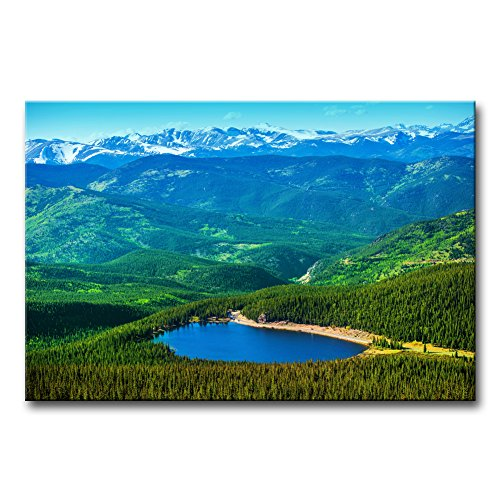Modern Canvas Painting Wall Art The Picture for Home Decoration Colorado Echo Lake and Mountains Landscape USA Landscape Mountain/&Lake Print On Canvas Giclee Artwork for Wall Decor