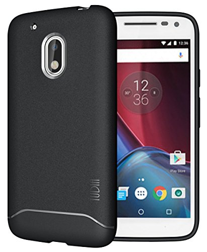 Moto G4 Play Case, TUDIA Full-Matte Lightweight [ARCH] TPU Bumper Shock Absorption Case for Motorola Moto G4 Play (Black)