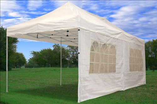 10'x20' Pop up 6 Wall Canopy Party Tent Gazebo Ez White - F Model Upgraded Frame By DELTA Canopies by DELTA Canopies (Image #3)