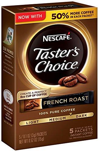 (Nescafe Taster's Choice French 5 Piece Roast Instant Coffee Single Serve Sticks, 0.52 oz)