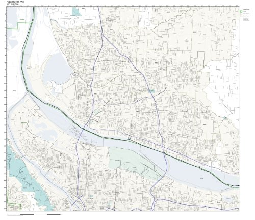 ZIP Code Wall Map of Vancouver, WA ZIP Code Map Laminated ()