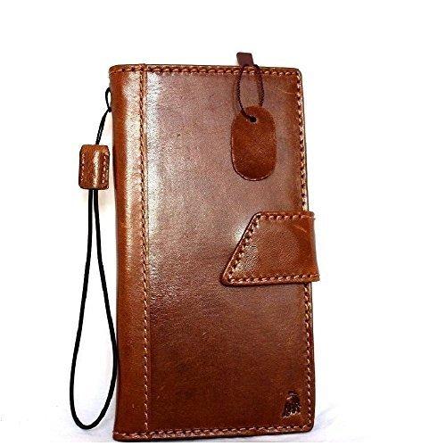 Étui à rabat en cuir vintage fait main pour apple iphone 6 plus ART Housse Portefeuille pour carte d'identité