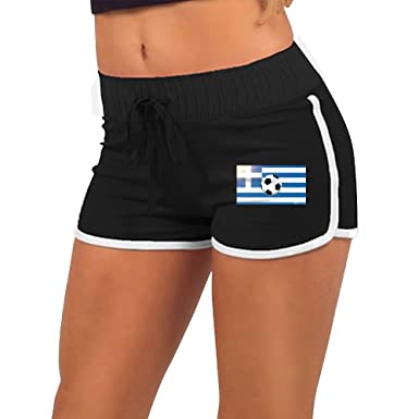 Women s Sexy Shorts Greece Soccer Ball On Flag Fashion Beach Hot Shorts at  Amazon Women s Clothing store  8dfeee381d