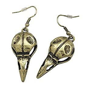 Q&Q Fashion Antique Crow Viking Odin Raven Skull Death Devil Goth Punk Emo Steampunk Dangle Earrings
