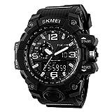 SKMEI Men's Quartz Watch LED Waterproof Sport Analog Digital Man Sports Wristwatch