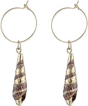 Shell Ear Studs Earrings Handmade Bohemian Earings Statement Women Jewelry ZJP