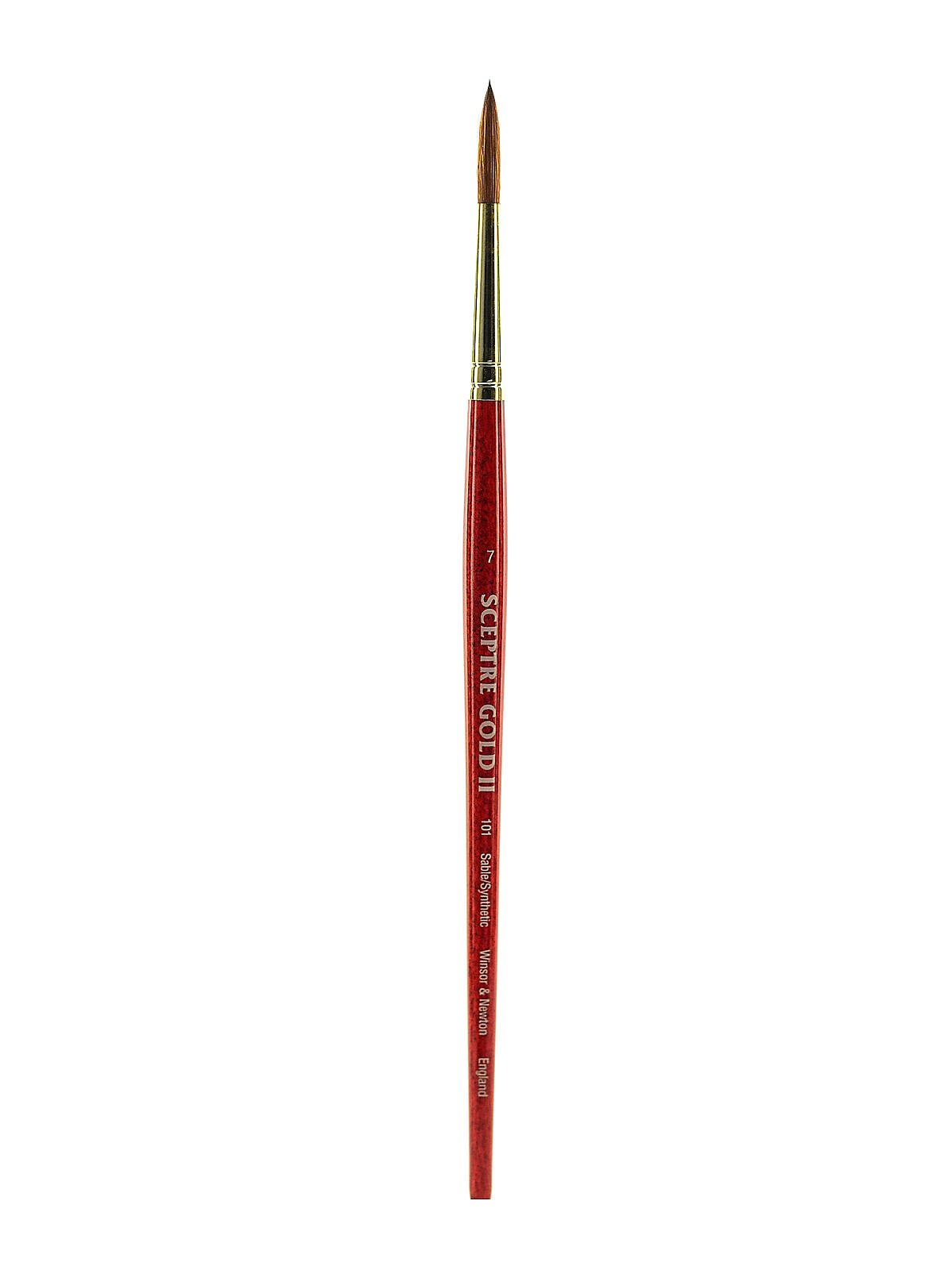 Winsor and Newton Sceptre Gold II Brush Round-Short Handle 7
