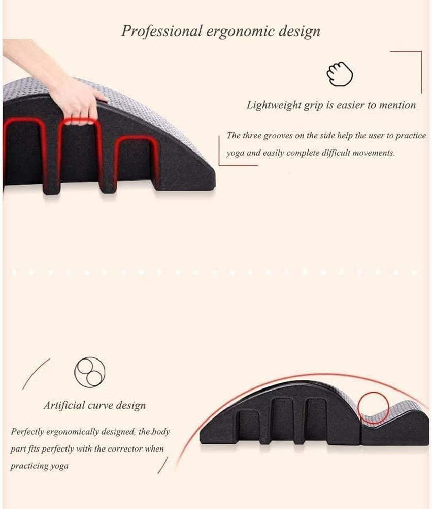Spine Supporters Yoga Spine Pilates Massage Bed Pilates Arc Spine Corrector Spine Orthosis Back Pain Relief Alignment Spine Back Curve Healthy Balanced Body Yoga Foam Equipment Detachable