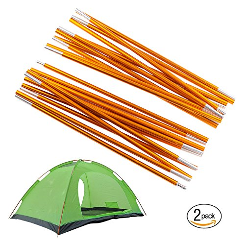 Overmont Adjustable Tarp and Tent Poles 360cm/142in Aluminum Alloy Camping Gear Outdoor Camping Tent Tarp Rod Replacement Accessories for Awning Frames Sun Rain Shelter