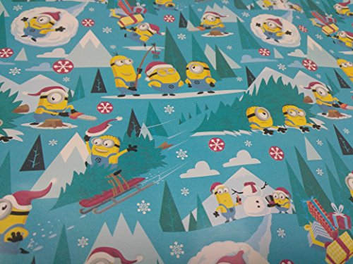 Christmas Wrapping Holiday Paper Gift Greetings 1 Roll Design Festive Wrap Minion (Homemade Costume Minion)