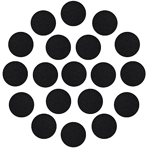1 Inch Felt (Outus Adhesive Black Felt Circles for DIY and Sewing Handcraft, 1 Inch, 100 Pieces)