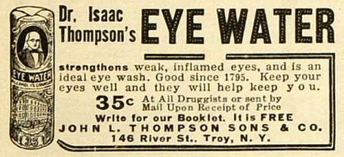 1918-ad-eye-water-drops-medication-remedy-reliever-lubricant-john-l-thompson-son-original-print-ad