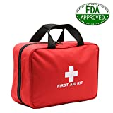 First Aid Kit 2018, Wolone FDA Certified Mini First Aid Kits Emergency Kit Bag 30 Kinds 210PCS,Large Space Survival Kit, Waterproof LightWeight First Aid Kit for Car Camping, Business,Workplace,Hiking