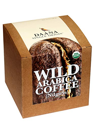 Wild Coffee: Organic, Shade Grown, Single Origin, Fair Trade Arabica Beans (Medium Roast) (12 oz)