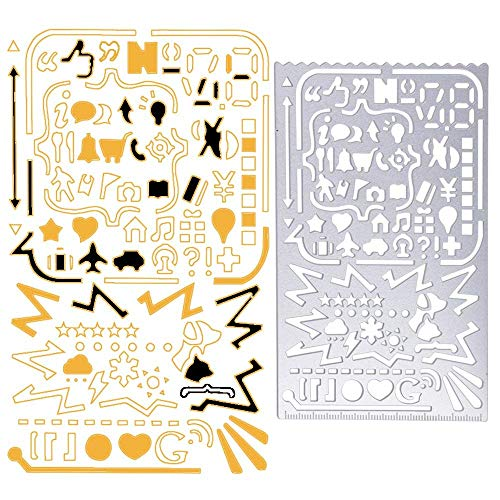 - Metal Drawing Templates,JoyTong Digital Stainless Steel Multifunctional Planner Stencils with 60 Apertures
