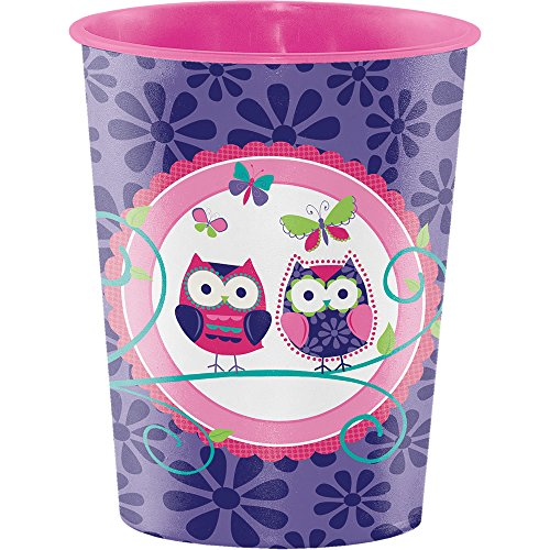 Creative Converting Plastic Keepsake Cups, Owl Pal Birthday (12-Count)