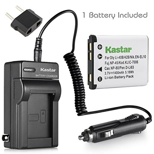 Kastar Battery (1-Pack) and Charger Kit for Polaroid T370 T730 T831 T833 T1032 T1455 T1255 BLi-272 BLi272 and Sanyo Xacti VPC-T700 T700BL T700P T700T VPC-T850 T850BL T850CP VPC-T1060 T1060BK T1060EX