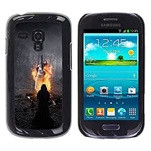 Paccase / SLIM PC / Aliminium Casa Carcasa Funda Case Cover para - Witch Fire Magic Dark Black - Samsung Galaxy S3 MINI NOT REGULAR! I8190 I8190N