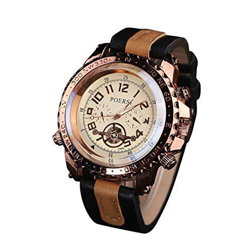 SamMoSon Reloj Relojes Hombre Deportivos Mujer, Relojes De Lujo para Hombres Reloj De Pulsera Deportivo De Cuarzo Analógico De Imitación De Cuero: ...
