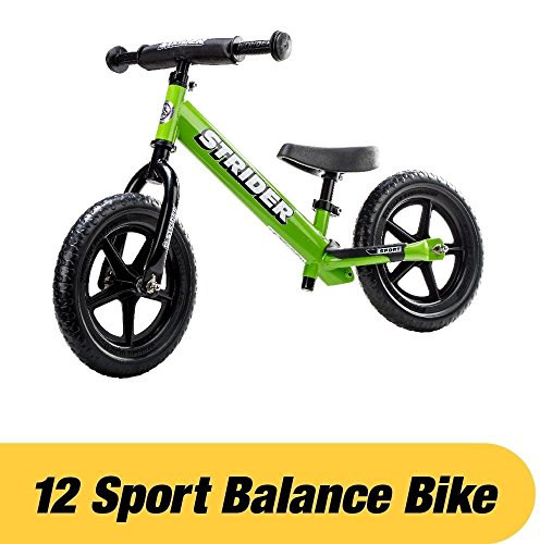 Strider - 12 Sport Balance Bike, Ages 18 Months to 5 Years, Green -