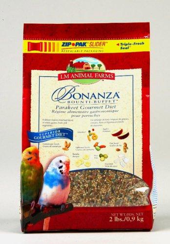 LM Animal Farms Bonanza Gourmet Diet Parakeet Bird Food, My Pet Supplies