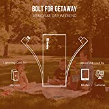Jackery Bolt 6000 mAh Portable Charger - iPhone Battery Charger with Built-in Lightning Cable [Apple MFi certified] External Battery Pack Compact Power Bank, TWICE as FAST as Original iPhone Charger