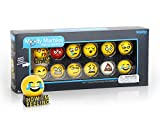 Glass Shooter Moody Marbles Emoji Series 2 - Gift Set of 12; Show your true feelings with these moody marbles; Great for mothers, teachers & therapists to use!